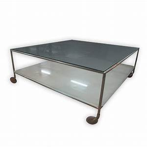 square coffee table with glass top and wheels 1005cm With square coffee table on wheels