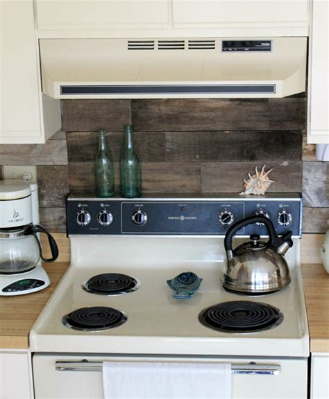 kitchen backsplash wood before after reclaimed wood kitchen backsplash design 2267