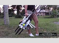 RodRunner portable fishing rod racks starring Darcizzle