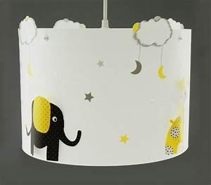 Suspension Chambre Bébé : suspension elephant jaune et noir casse noisette ~ Voncanada.com Idées de Décoration