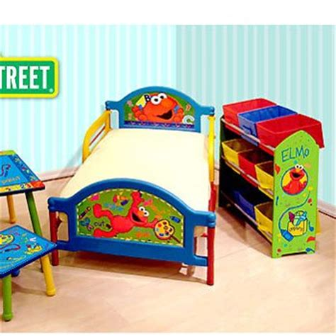 how about sesame street elmo room in a box toddler bed