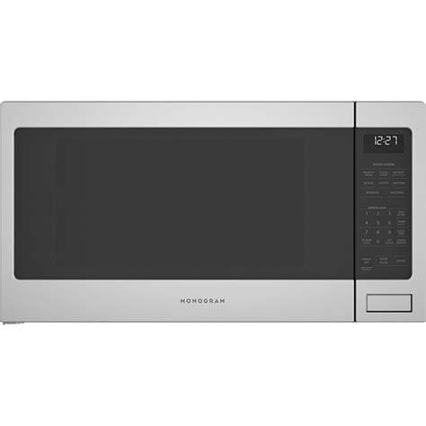 ge monogram zesslss  cu ft countertop microwave