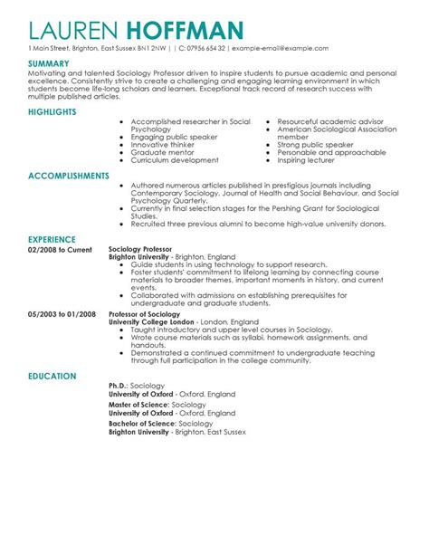 manager resume sample best professor resume example livecareer