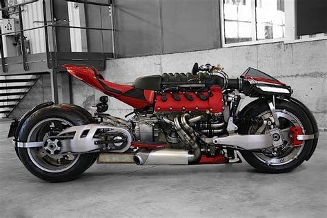 A Ferrari F136 Engine Shoehorned Into A Lazareth Motorcycle