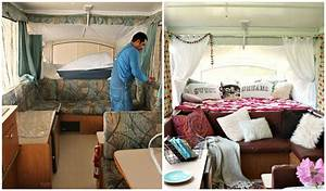 Hometalk Boho Inspired Pop-Up Camper Re-do