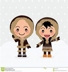 World Kids from Eskimo stock vector. Illustration of ...