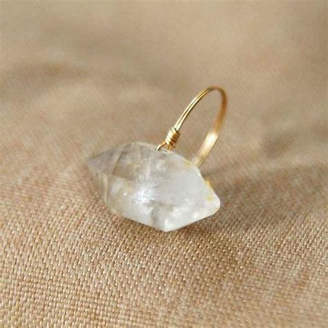 images  raw crystal jewelry  pinterest
