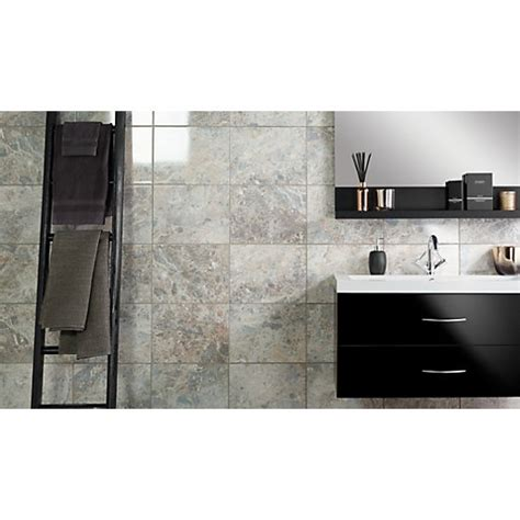 wickes kitchen tiles wall wickes avellino cappuccino grey gloss ceramic wall floor 1529