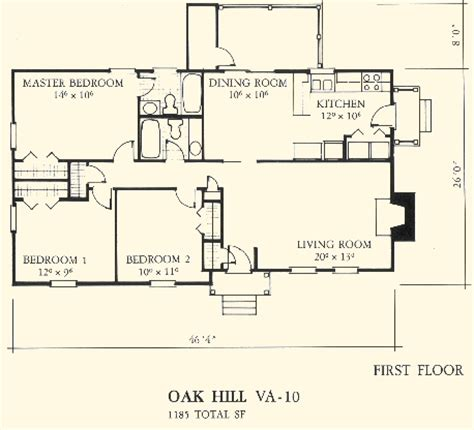 home house plans va10 oak hill