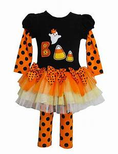 Bonnie Jean BOO Ghost Tutu Halloween Leggings set TODDLER Girls 2T-4T - Color Me Happy Boutique