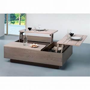 Table Basse Plateau Relevable Zen Meubles LeClerc