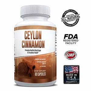 Pure Ceylon Cinnamon Capsules 1200mg  U2013 1 Month