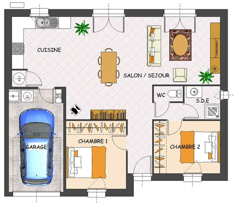 plan maison plain pied 2 chambres gratuit construction maison neuve jade lamotte maisons individuelles