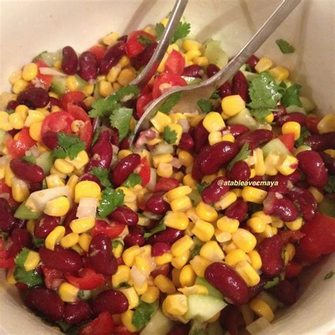cuisiner les haricots rouges secs salade de maïs et haricots rouges à la mexicaine a table