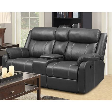 recliner loveseat with console domino carbon reclining console loveseat motion
