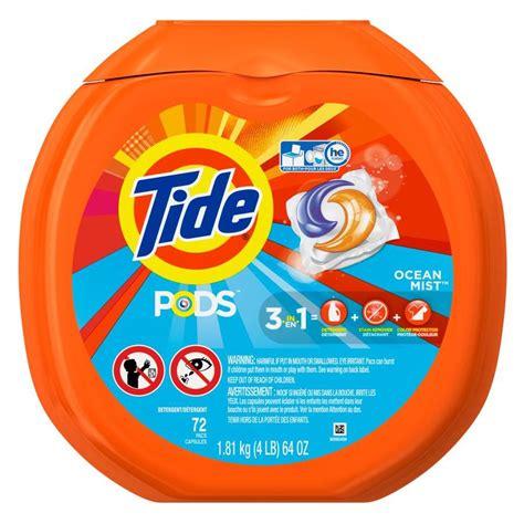 laundry detergent pods shop tide pods 72 count ocean mist he capsules laundry detergent at lowes com