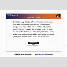 Toeic Speaking Lesson 1 Questions 12 Read A Text Aloud (general Introduction To The Task