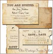 Train Ticket Wedding Invitations Child 39 S Train Themed Birthday Invitation Ode To Etsy Notes From A Messy Kitchen Gallery For Real Vintage Train Ticket