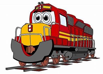 Train Cartoon Engine Trains Clipart Cliparts Clip