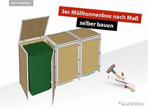Mülltonnenbox Selbst Bauen : 3er m lltonnenbox nach ma selber bauen mit alusteck alusteck ~ Orissabook.com Haus und Dekorationen