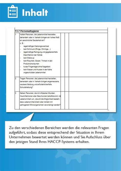 haccp audit checkliste und protokoll haccp vorlage