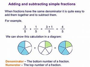 Math Add Subtract Fractions - Lessons