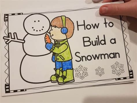 build  snowman  images literacy activities