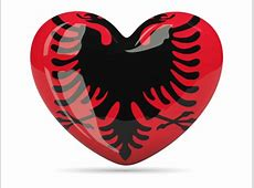 Heart icon Illustration of flag of Albania