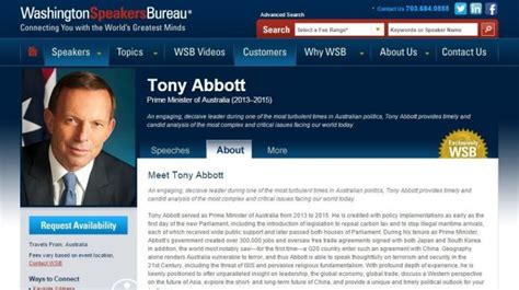 washington speakers bureau 39 offers 40 000 39 tony abbott joins the international