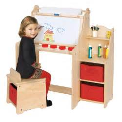 guidecraft activity desk and art easel set for kids