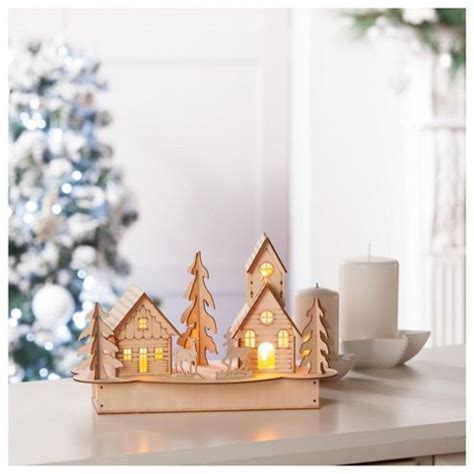 buy tesco plywood house christmas decoration from our all