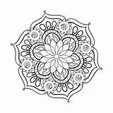 Coloring Adults Adult Mandala Pages sketch template