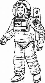 Astronaut Coloring Nasa Pages Mouse Wecoloringpage Mickey sketch template