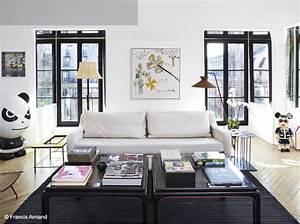 Deco Design Salon : le noir blanc s invite au salon elle d coration ~ Farleysfitness.com Idées de Décoration