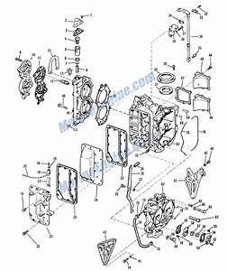 Evinrude Manual Start Crankcase And Cylinder Group Parts