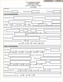 Admission Form Sample Business Proposal Templated