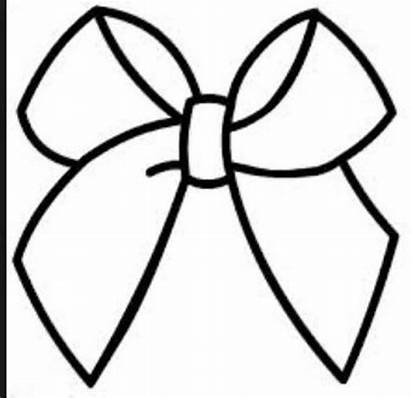 Cheer Bow Drawings Ribbon Outline Bows Silhouette