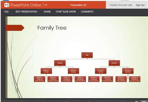 family tree chart maker template  powerpoint