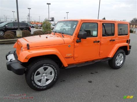 jeep wrangler orange crush 2012 jeep wrangler unlimited sahara 4x4 in crush orange
