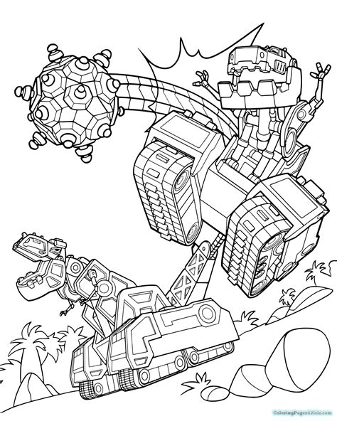 Dinotrux Kleurplaat by Printable Dinotrux Coloring Pages Sketch Coloring Page