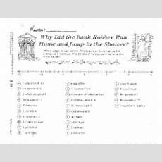 Why Did The Bank Robber Run Home And Jump In The Shower? 4th  8th Grade Worksheet  Lesson Planet