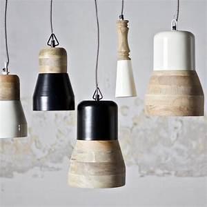 Suspension Blanc Et Bois : suspension m tal bois candlestick par ~ Teatrodelosmanantiales.com Idées de Décoration