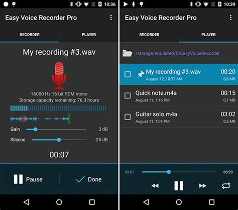 android voice recorder easy voice recorder pro v2 3 1 apk index apk