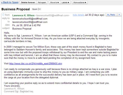Business Proposal From A Soldier