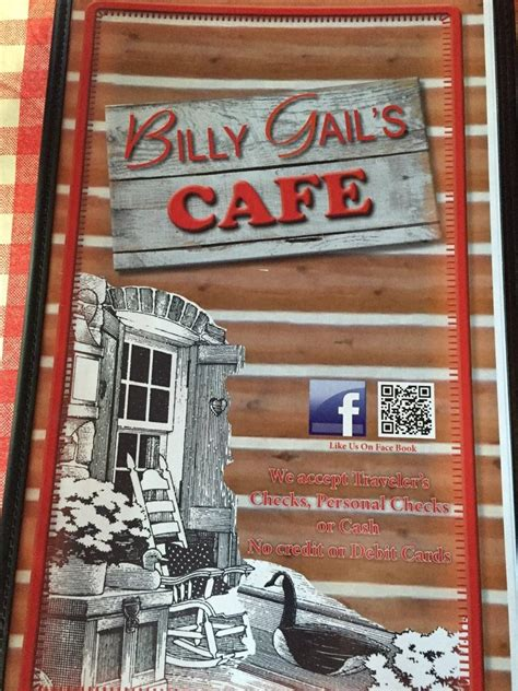 billy gails cafe