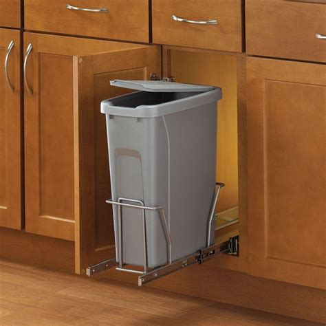 pull out trash cabinet real solutions for real life 17 in h x 8 in w x 20 in d