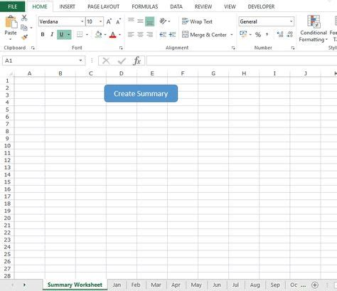 quickly create summary worksheet  hyperlinks  excel
