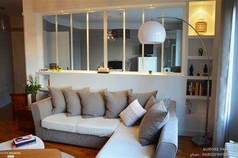 chambre dans salon création d 39 une verrière chambre salon aurore pannier