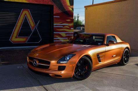 mercedes sls amg  satin canyon copper orange matte black