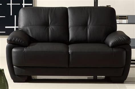 canapé 2 places en cuir italien buffle leandro noir
